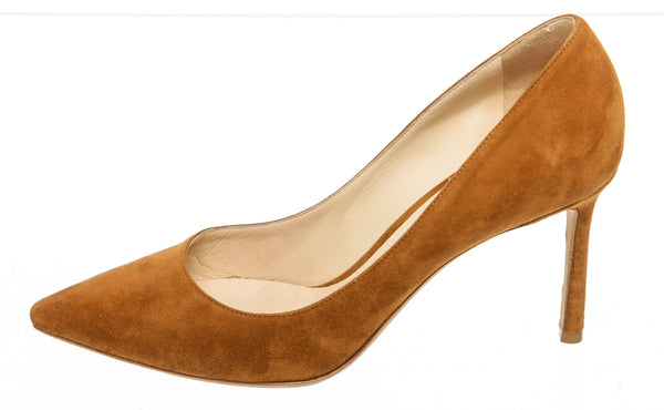 Jimmy Choo Tan Suede Leather Pump (Size 38.5)