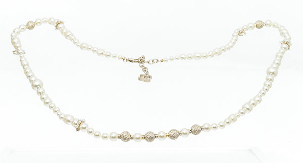 Chanel Pearl and 2 CC Long Strand Necklace