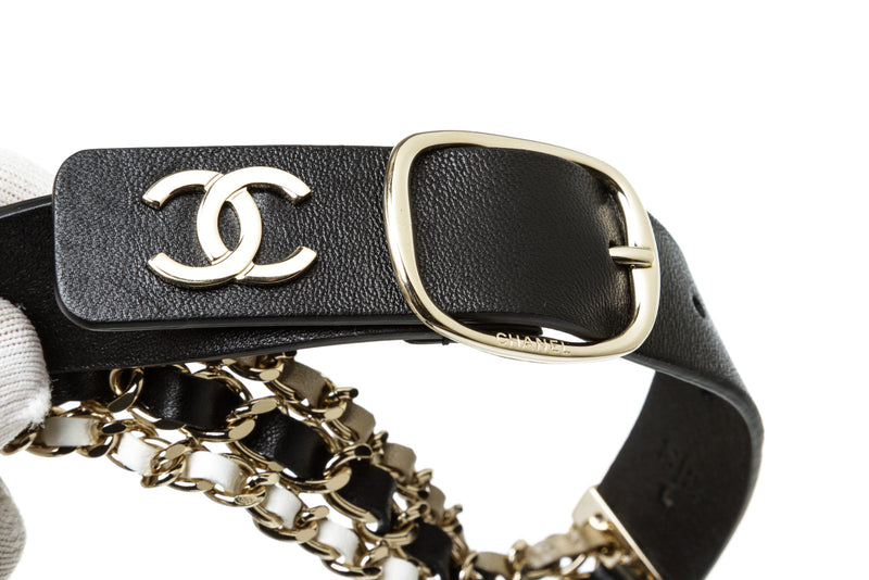 Chanel Chainlink and Leather Triple Strand CC Belt