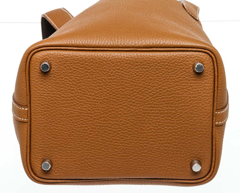 Hermes Gold Picotin 18 Taurillon Leather Palladium Hardware