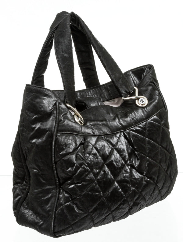 Chanel Black Quilted Nylon Tote