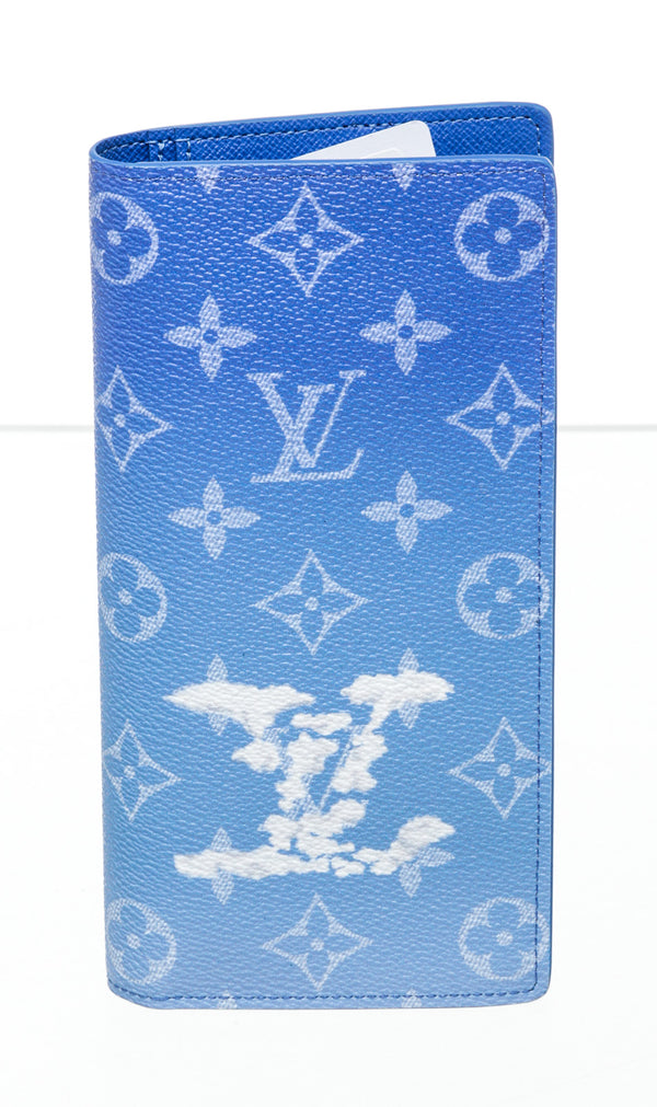 Louis Vuitton Blue & White Cloud Wallet