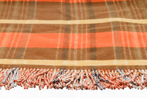 Hermes Orange Yellow Fringe Blanket