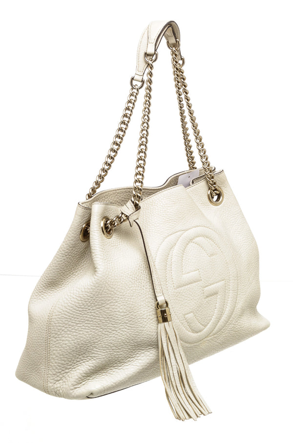 Gucci Ivory Soho Double Chain Bag