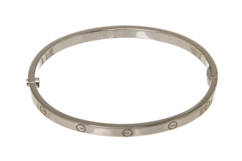 Cartier 18k White Gold Love Bracelet, Small Model (Size 15)