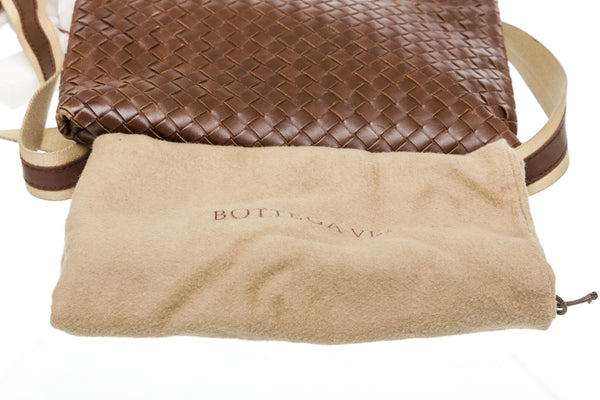 Bottega Veneta Brown Intrecciato Crossbody
