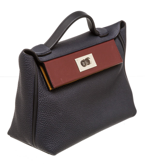 Hermes Togo Swift Leather 24/24 29 Bleu Nuit Bleu Indigo Bordeaux Kraft