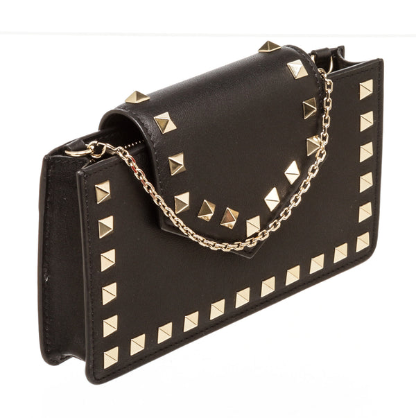 Valentino Black Leather Rock Stud Bag
