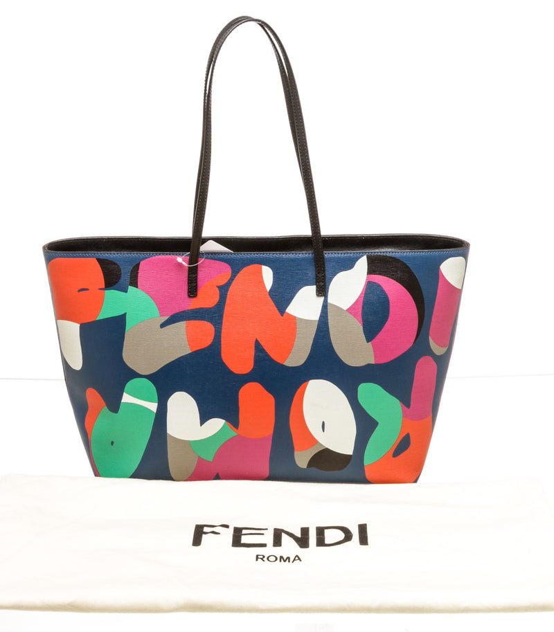 Fendi Multi-Color Large leather Roma Tote