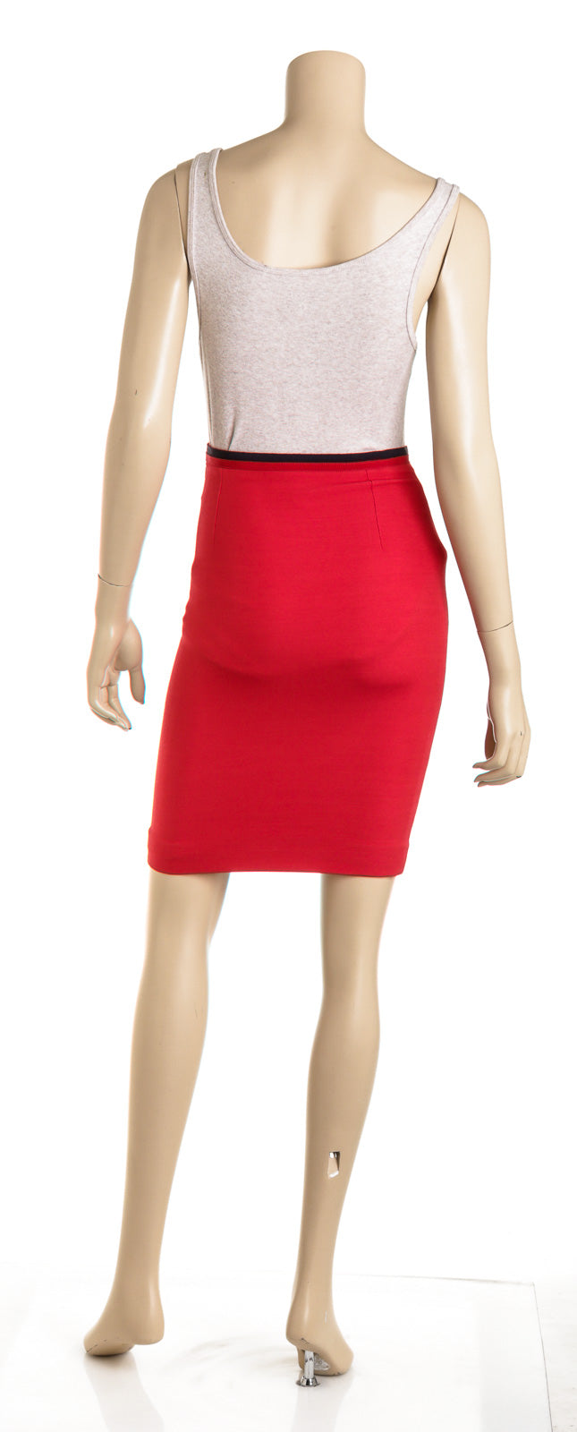 Gucci Stripe Red Straight Skirt (Size 36)