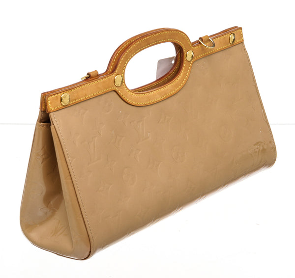 Louis Vuitton Cream Vernis Roxbury Handbag