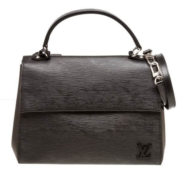 Louis Vuitton Black Epi Leather MM Cluny Handbag