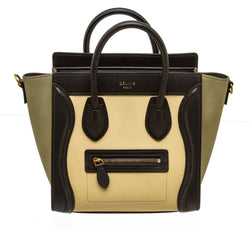 Celine Tricolor Calfskin Nano Luggage Crossbody