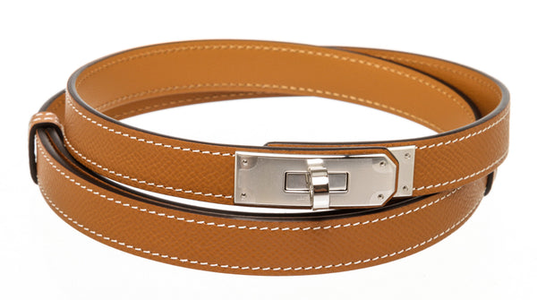 Hermes Tan Kelly Belt Palladium Hardware