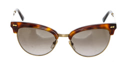 Gucci Brown Tortorise Clubmaster Cateye Engraved Stem Sunglasses Model # GG 4283/S
