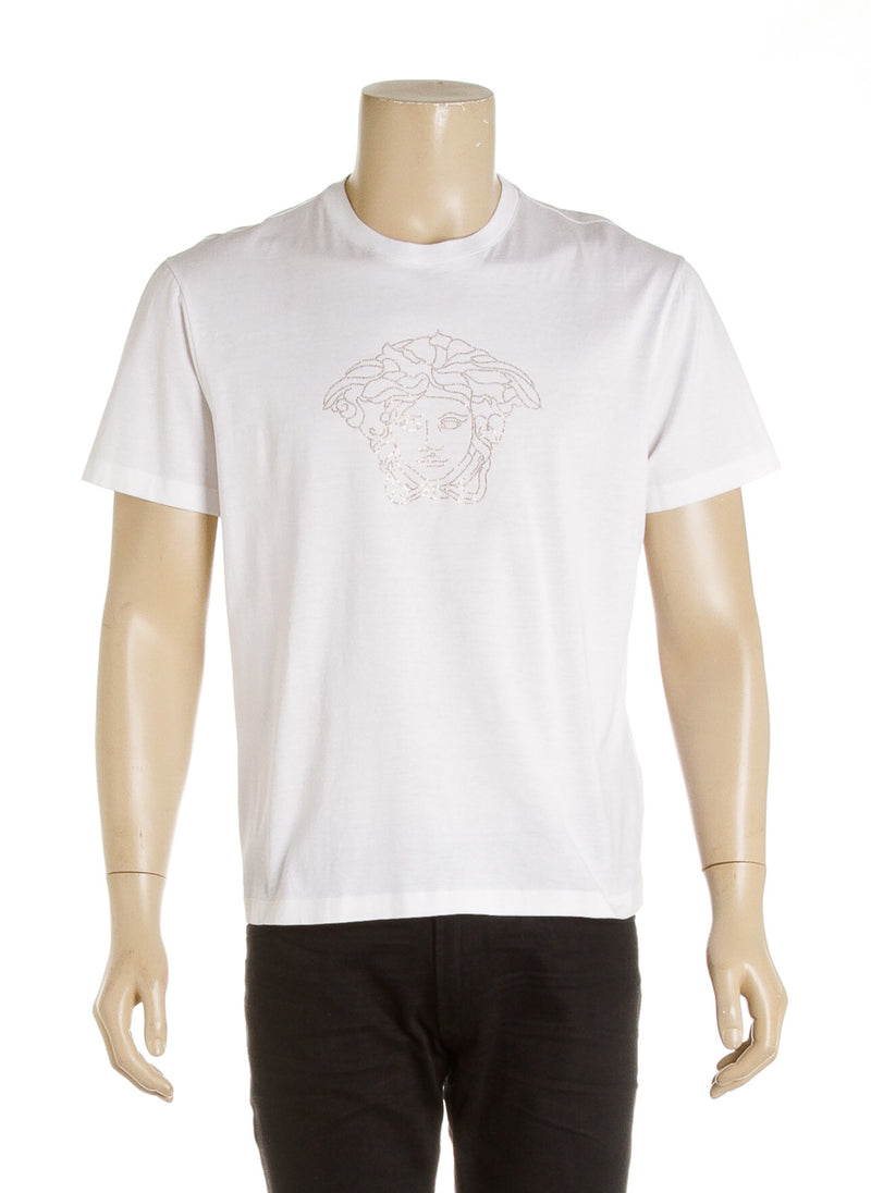 Versace White Sequined Men's Tee (Size XL)