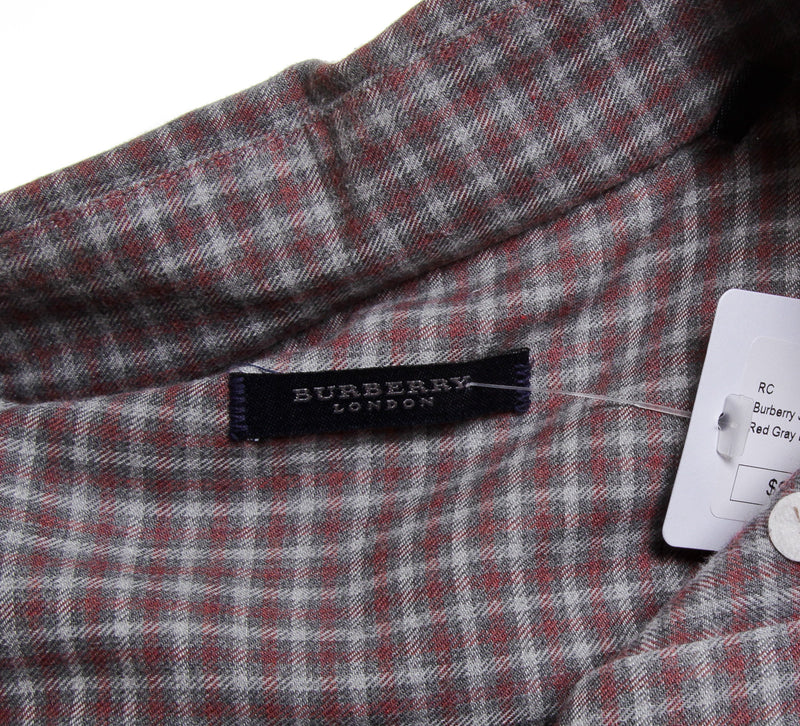 Burberry Plaid Button Up Long Sleeve (Size L)