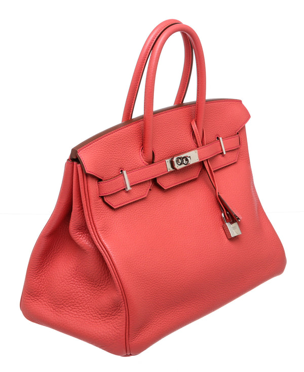Hermes Bougainvillea Togo Leather Birkin 35cm PHW Bag