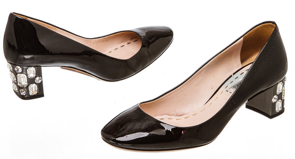 Miu Miu Black Patent Leather Pump (Size 36)