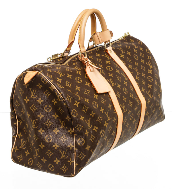 Louis Vuitton Brown Monogram 50 Keepall