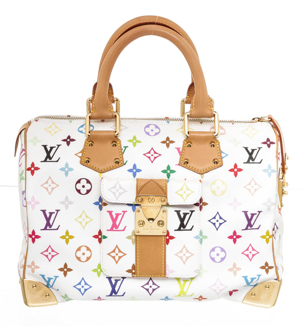 Louis Vuitton White Multi Colored Murakami Handbag