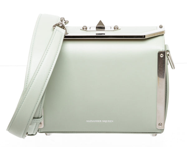 Alexander McQueen Mint Green Leather 16 Box Bag