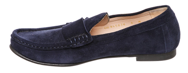 Stuart Weitzman Blue Suede Loafers (Size 8)