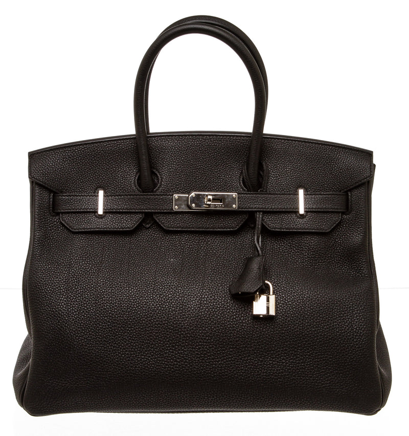 Hermes Black Togo Leather Birkin 35cm Bag PHW