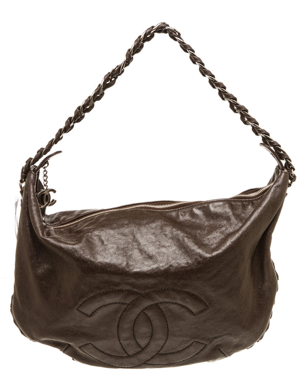 Chanel Brown Modern Chain Hobo