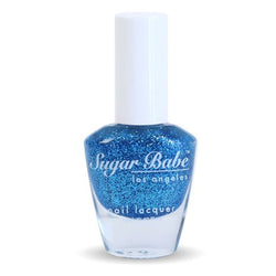 Sugar Babe Los Angeles HOLLYWOOD Blue Glitter Nail Polish Lacquer