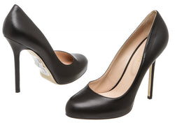 Sergio Rossi Black Leather Barbie Platform Pump (Size 40)