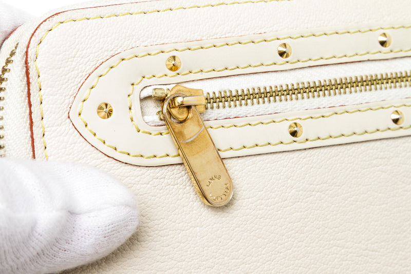 Louis Vuitton Cream Suhali Zippy Wallet