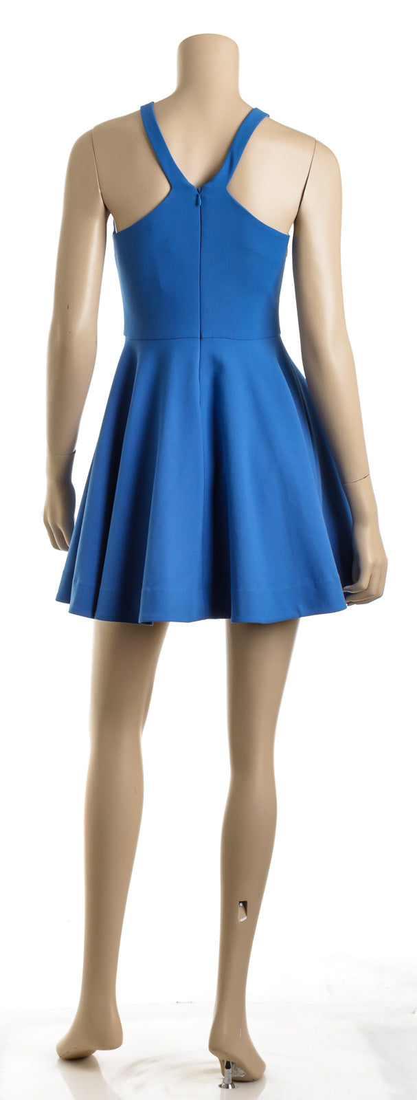 Elizabeth and James Blue Knit Racerback Flair Skirt Dress (Size 4)
