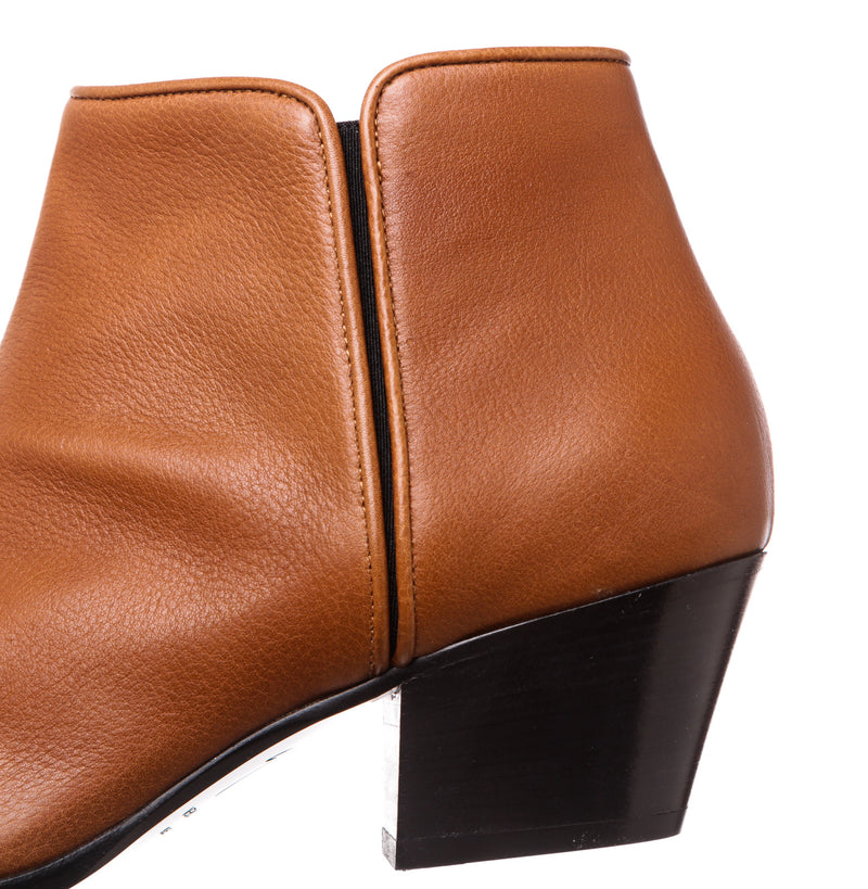 Giueseppe Zanotti Tan Leather Ankle Boots (Size 41)