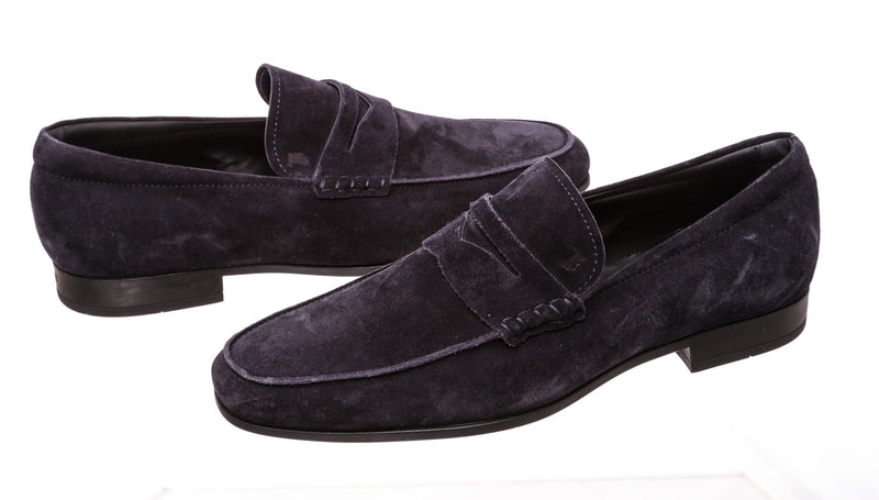 Tod's Blue Suede Loafers (Size 7)