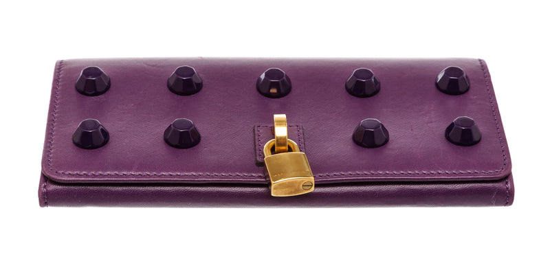 Marc Jacobs Purple Leather Studded Wallet