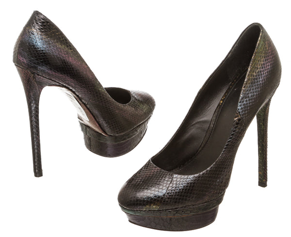 B. Brian Atwood Multicolor Snakeskin Ferguson Pump (Size 9.5)