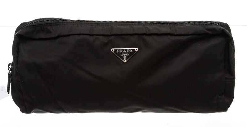 Prada Black Nylon Pouch Bag