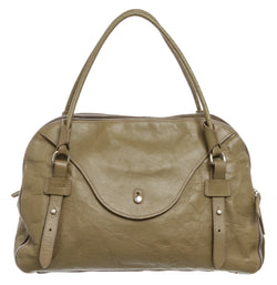 Furla Olive Green Leather Satchel