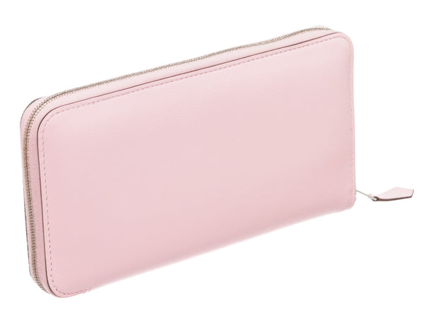 Hermes Rose Sakura Swift Leather Azap Classic Wallet
