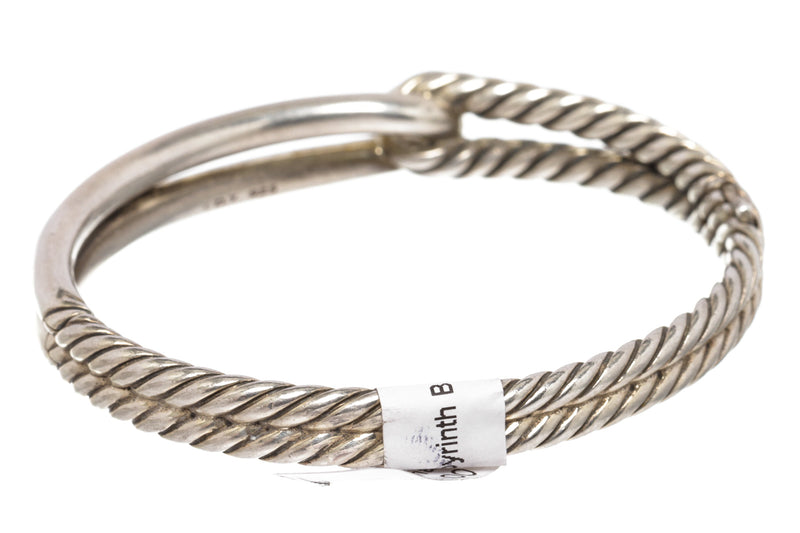 David Yurman Sterling Silver Labyrinth Single-Loop Bracelet