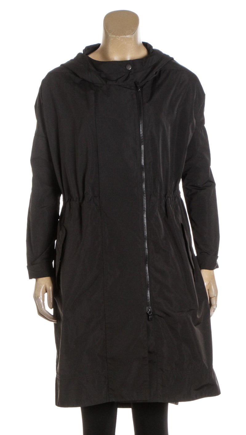 Brunello Cucinelli Dark Gray Hooded Lightweight Parka (Size 38)