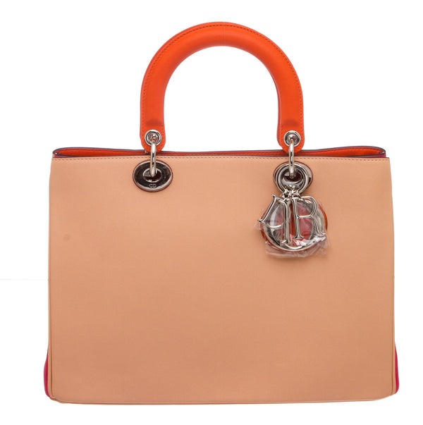 Christian Dior Tricolor Calfskin Diorissimo Small Bag