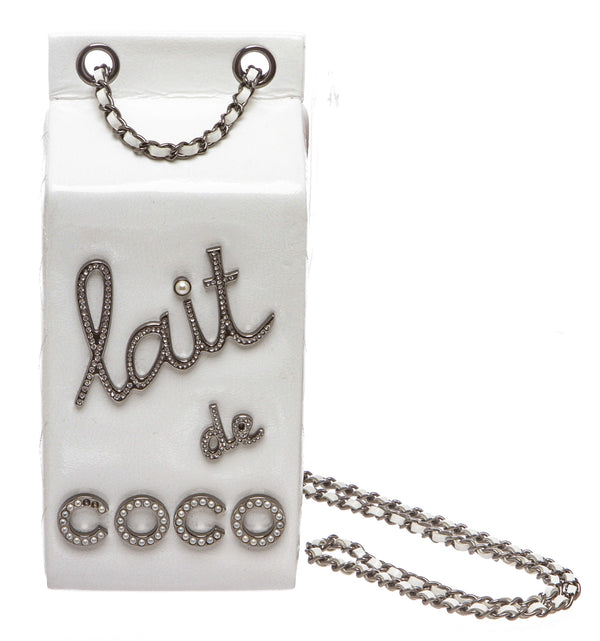 Chanel White Patent Milk Carton 'Lait de Coco'  Bag