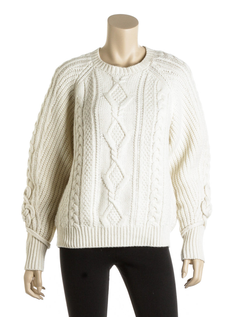 Polo Ralph Lauren Cream Wool Cable Knit Sweater (Size S)