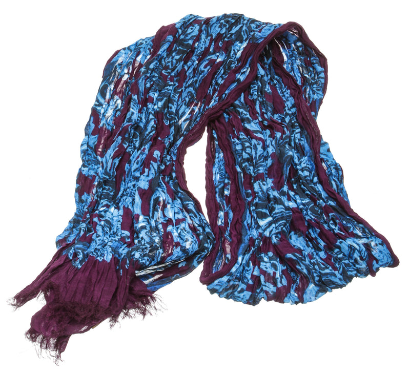 Loewe Purple and Blue Cotton Graphic Scarf