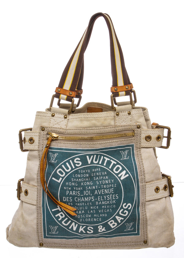 Louis Vuitton Canvas Trunks and Bags Tote Bag