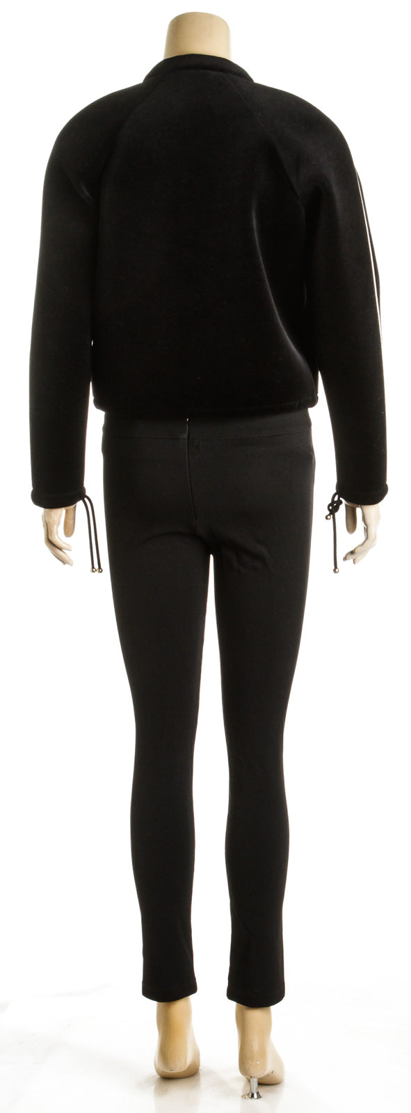 Chanel Black Velvet Long Sleeve Coco Neige Jacket (Size 34)