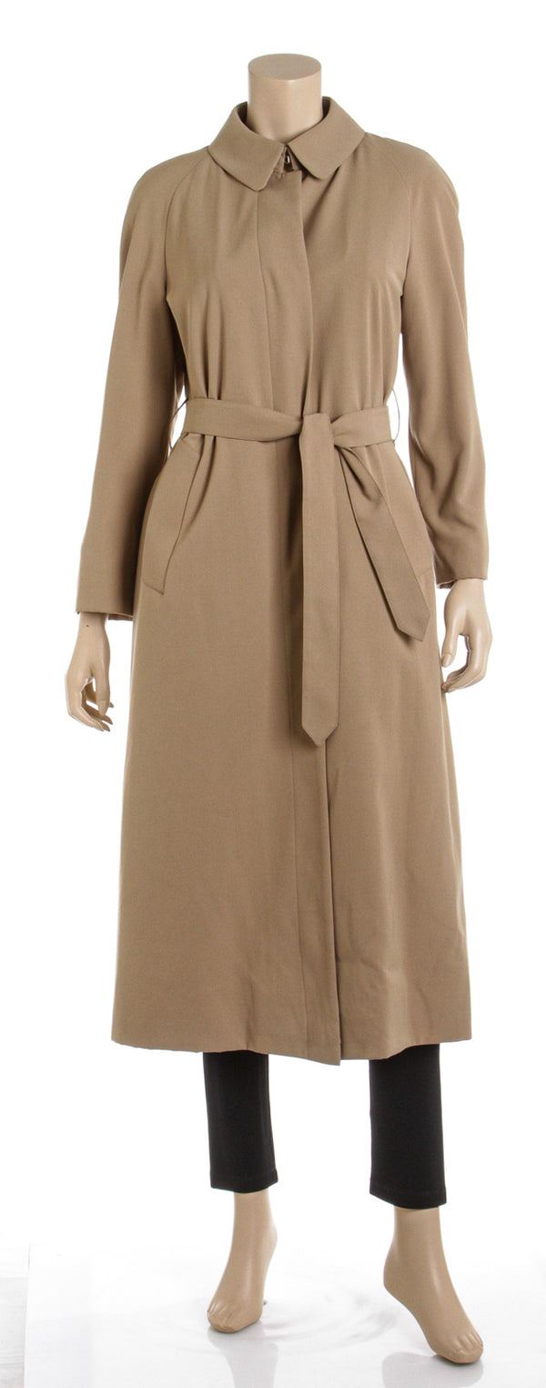 Burberry Tan Long Sleeve Belted Coat w/ Removable Liner (Size 6R)