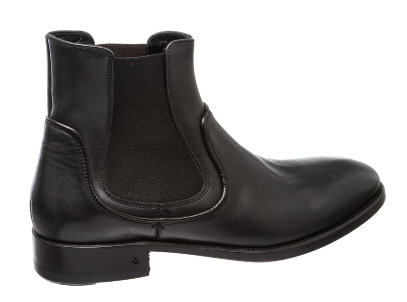 John Varvatos Black Leather Chelsea Boots (Size 7.5)